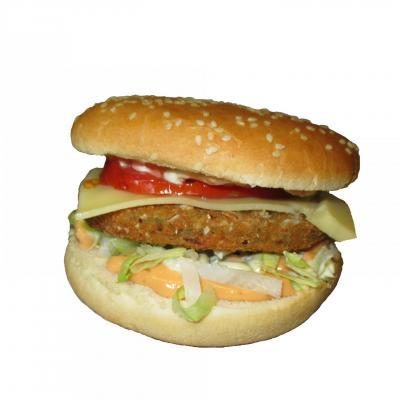 Burger vege cheese simple